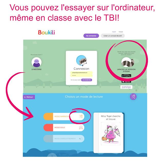 Boukili application de lecture Julie Philippon