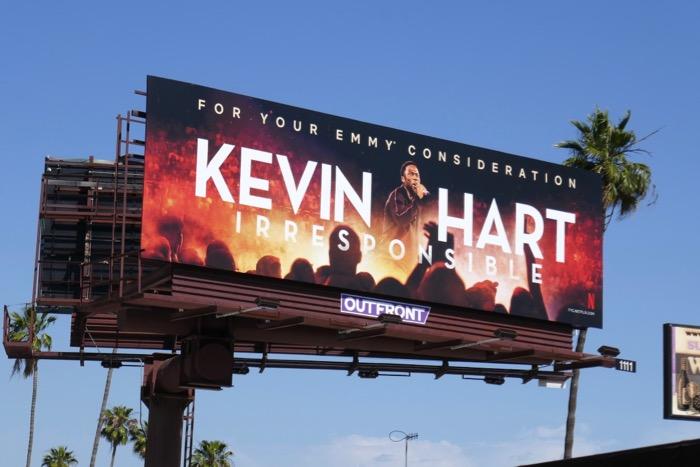 Kevin Hart Irresponsible Emmy FYC billboard
