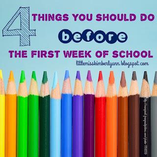 The First Week Before School