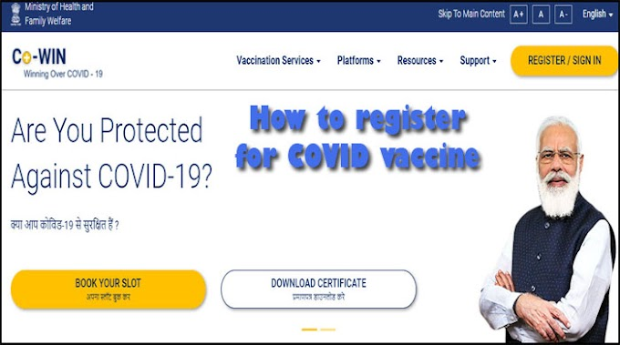 covid vaccine registration online india