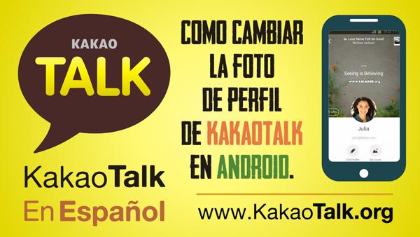 Como cambiar la foto de perfil de KakaoTalk