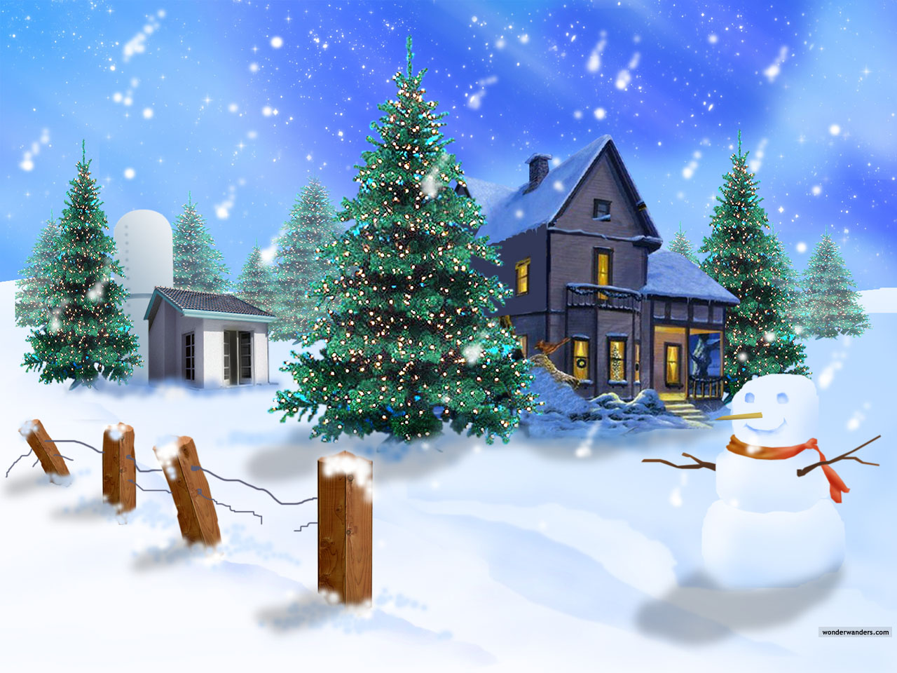 Free Christmas Scenes.8 Send New Years Greetings Text 2014