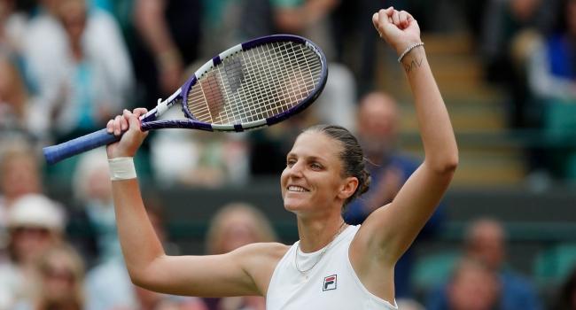 Wimbledon'da tek kadınların ilk yarı finalisti Pliskova