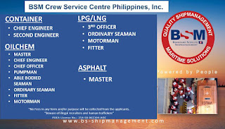 Current vacancy for seafarer rank officers, engineers, ratings join october-november-december 2018