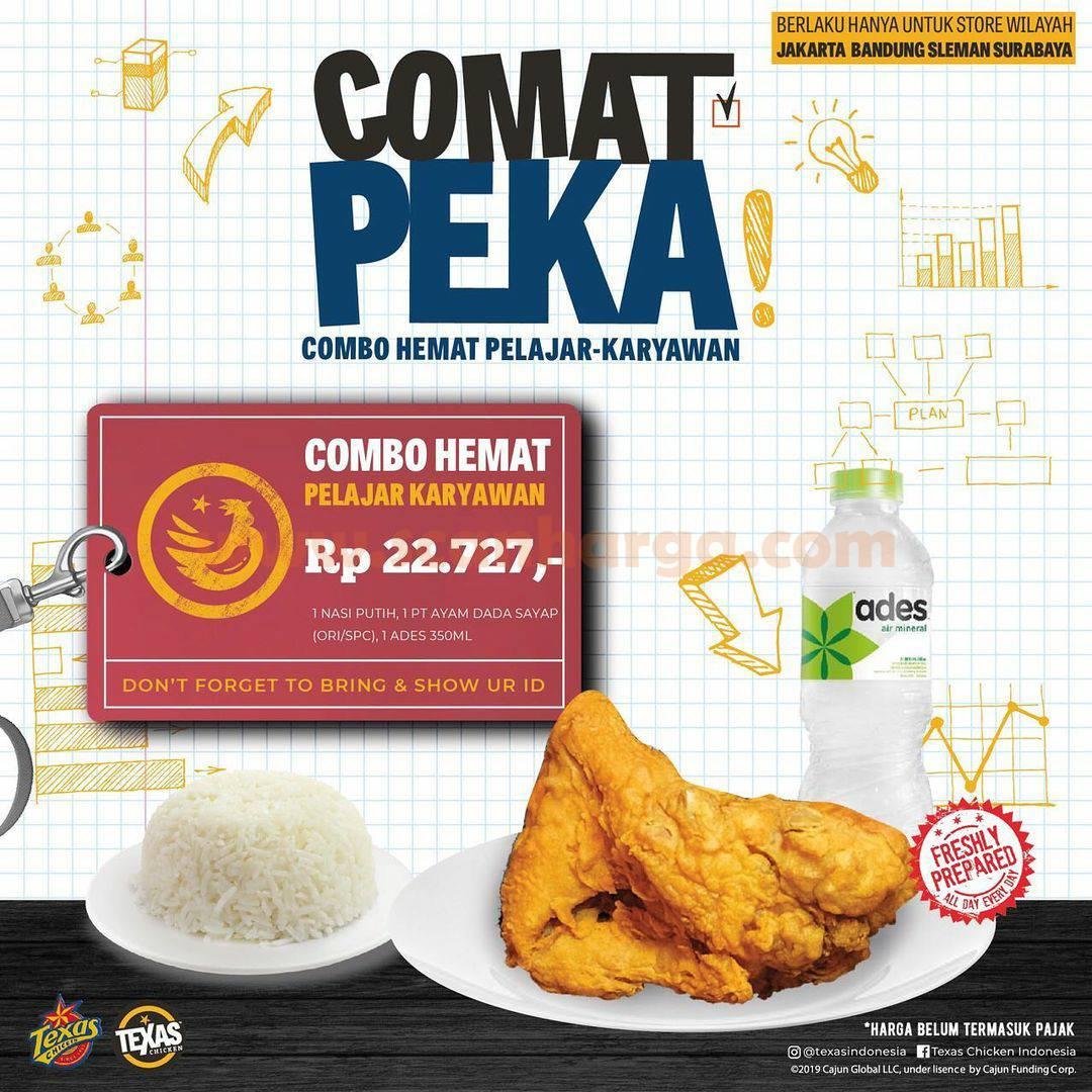 TEXAS CHICKEN COMAT PEKA Promo (Combo hemat Pelajar & Karyawan)