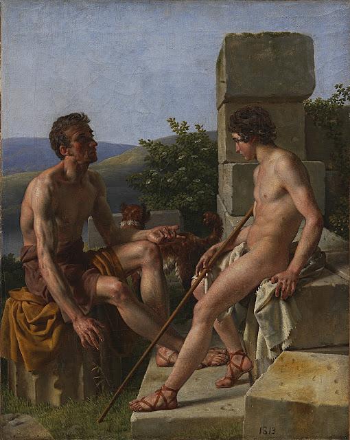 Christoffer Wilhelm Eckersberg - Due pastori - omoerotismo - arte