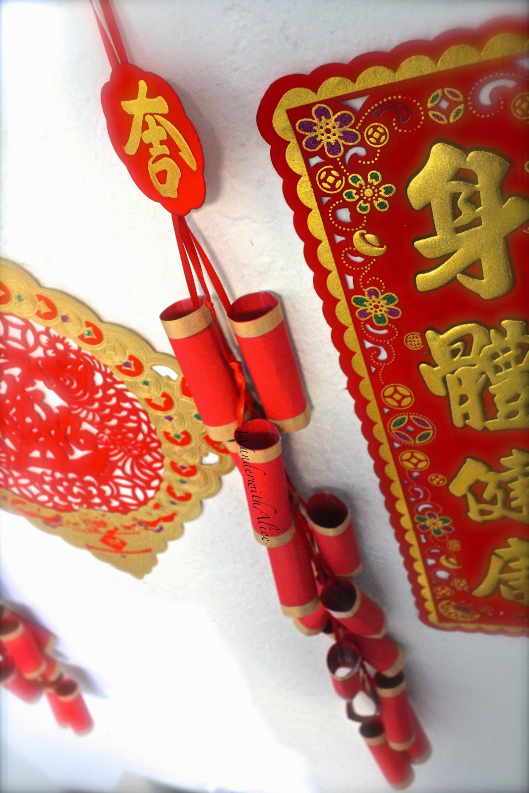 """DIY: Chinese New Year """"Paper Fire Cracker"""" Wall Decor"""