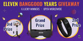 Banggood Years Giveaway prizes