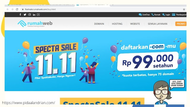 Rumahweb promo domain 11.11