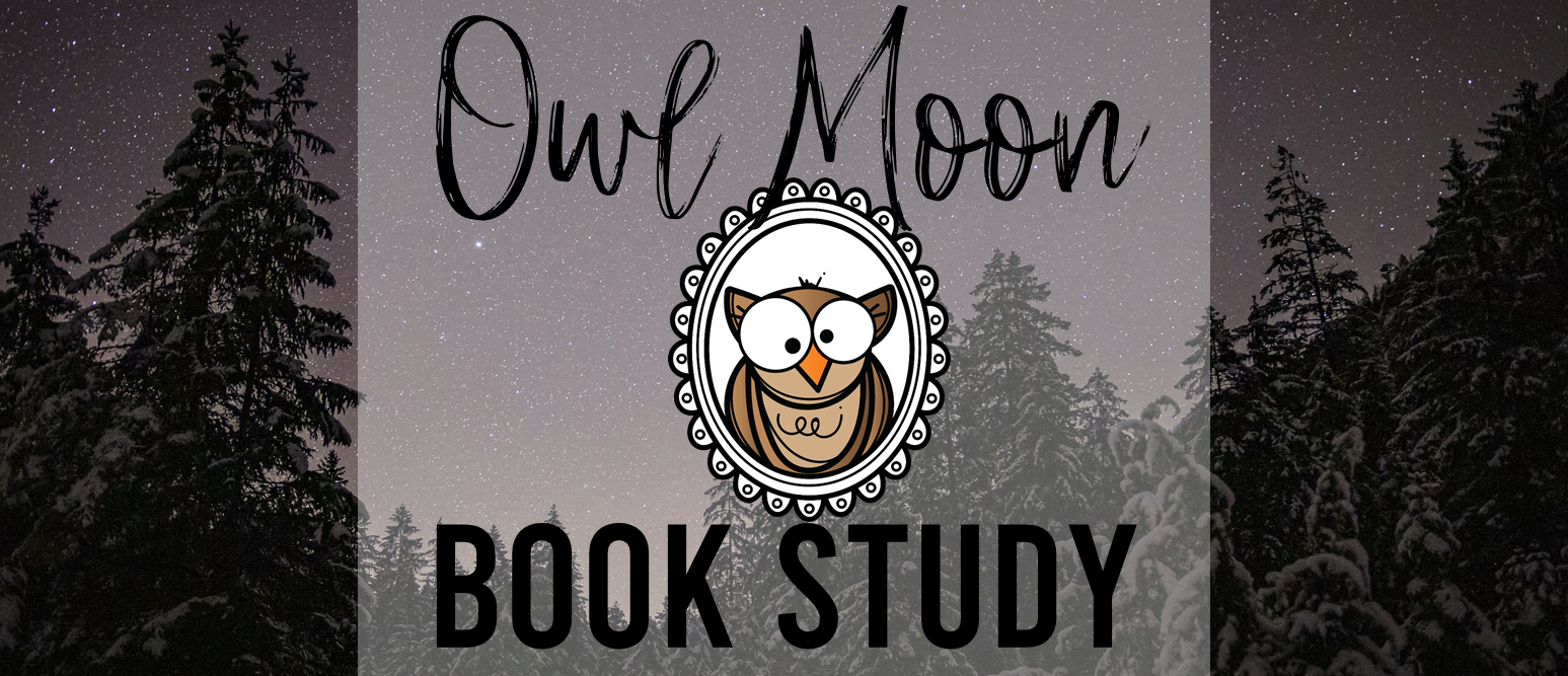 Owl Moon book study activities unit with Common Core aligned literacy companion activities for First Grade and Second Grade