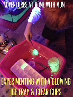 Use glowing water beads for fine motor practice