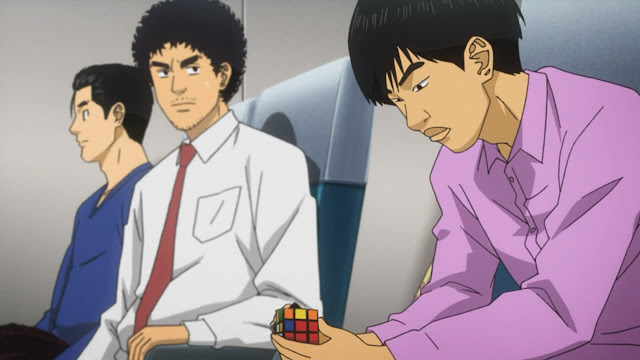 Space Brothers episode 10 playing rubik's cube kubus