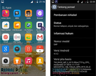 Cara Screenshot Advan S4P