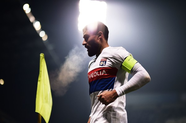 Lyon's forward Nabil Fekir looks on during the UEFA Europa League group E football match Atalanta vs Olympique Lyonnais