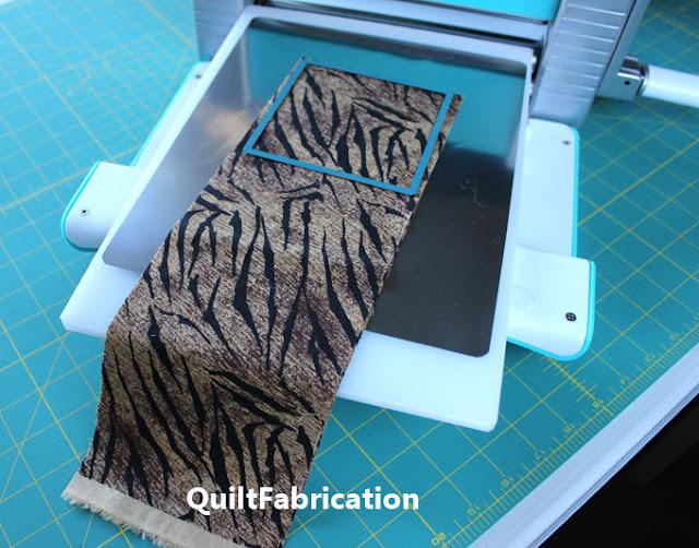 fabric strip ready for die cutting