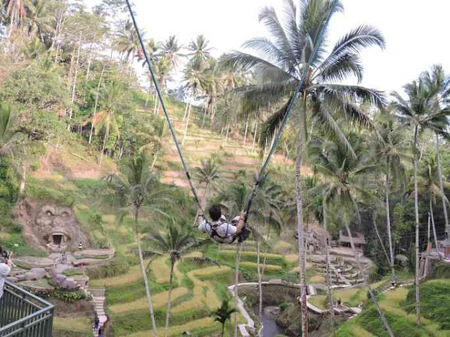 """To Bali, swinging with """"death"""""""