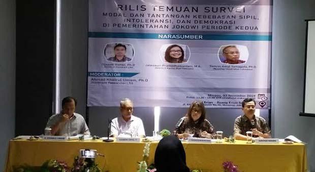 Temuan LSI, Intoleransi Politik di Indonesia Masih Buruk