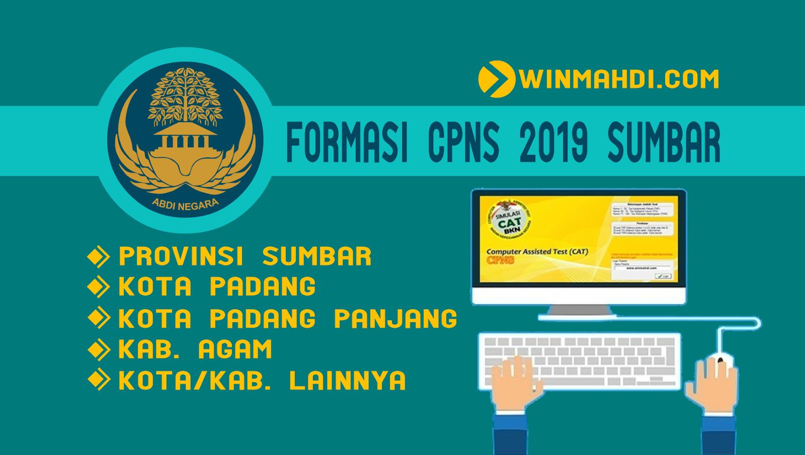 Daftar Formasi CPNS 2019 Sumatera Barat