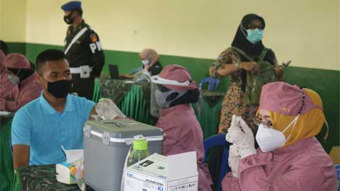 Kodim 0708 Purworejo Vaksinasi Anak Usia 12-17 Tahun