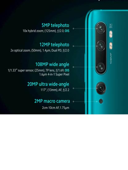 Spesfikasi Xiaomi Mi Note 10 Pro