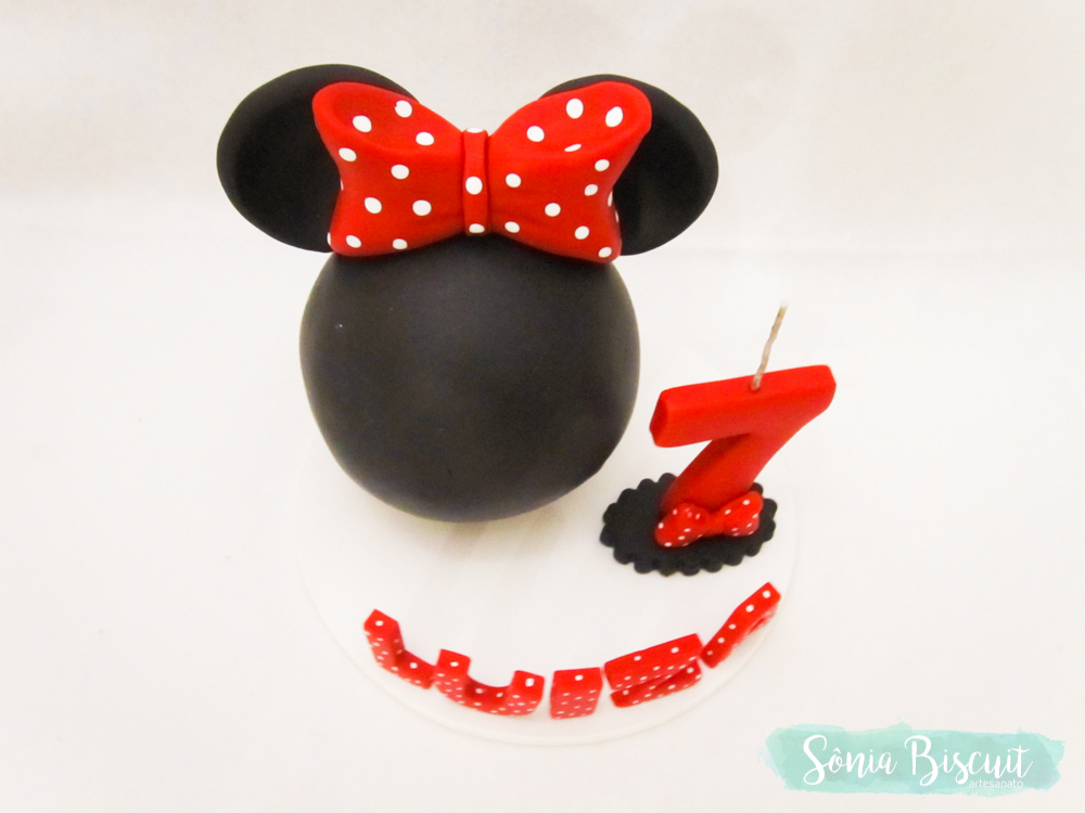 Topo de Bolo, Minnie, Mickey, Biscuit, Disney, Sonia Biscuit