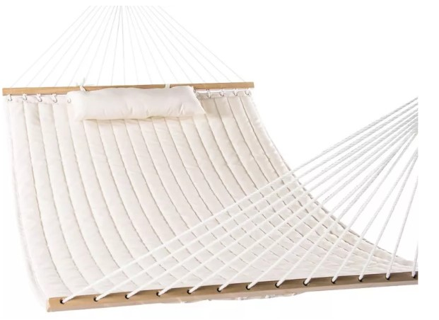 Lazy Daze Hammocks double quilted fabric hammock swing with pillow