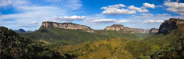 Panorâmica da Rampa do Vale do Pati (Foto: Carlos Perez Couto)