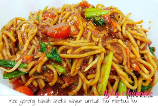 Resepi Mee Goreng Basah Aneka Sayur