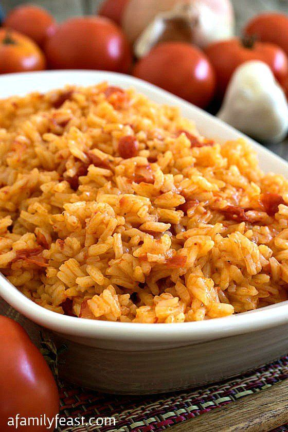 "Over the last few months, we've been trying quite a few recipes from the cookbook, ""Food of Portugal"" and this Arroz de Tomate – or Portuguese Tomato Rice – is now one of our go-to side dishes.  According to the cookbook's author Jean Anderson, this recipe is a favorite all over Portugal – but best prepared in the Province of Alentejo in the South-Central part of Portugal, where plump juicy tomatoes grow red and ripe and full of flavor thanks to favorable growing conditions."
