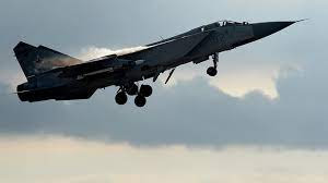 A Russian MiG-31 fighter jet took off to intercept a US RC-135 reconnaissance aircraft