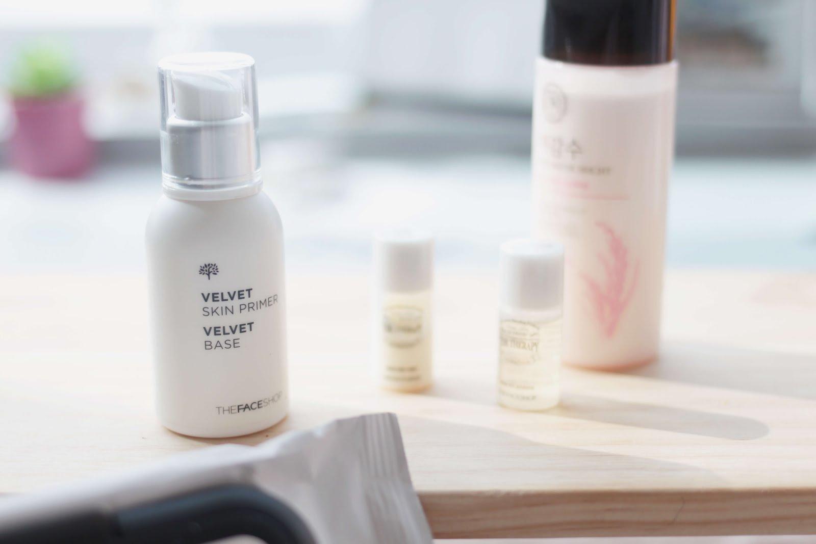 the face shop velvet skin primer velvet base
