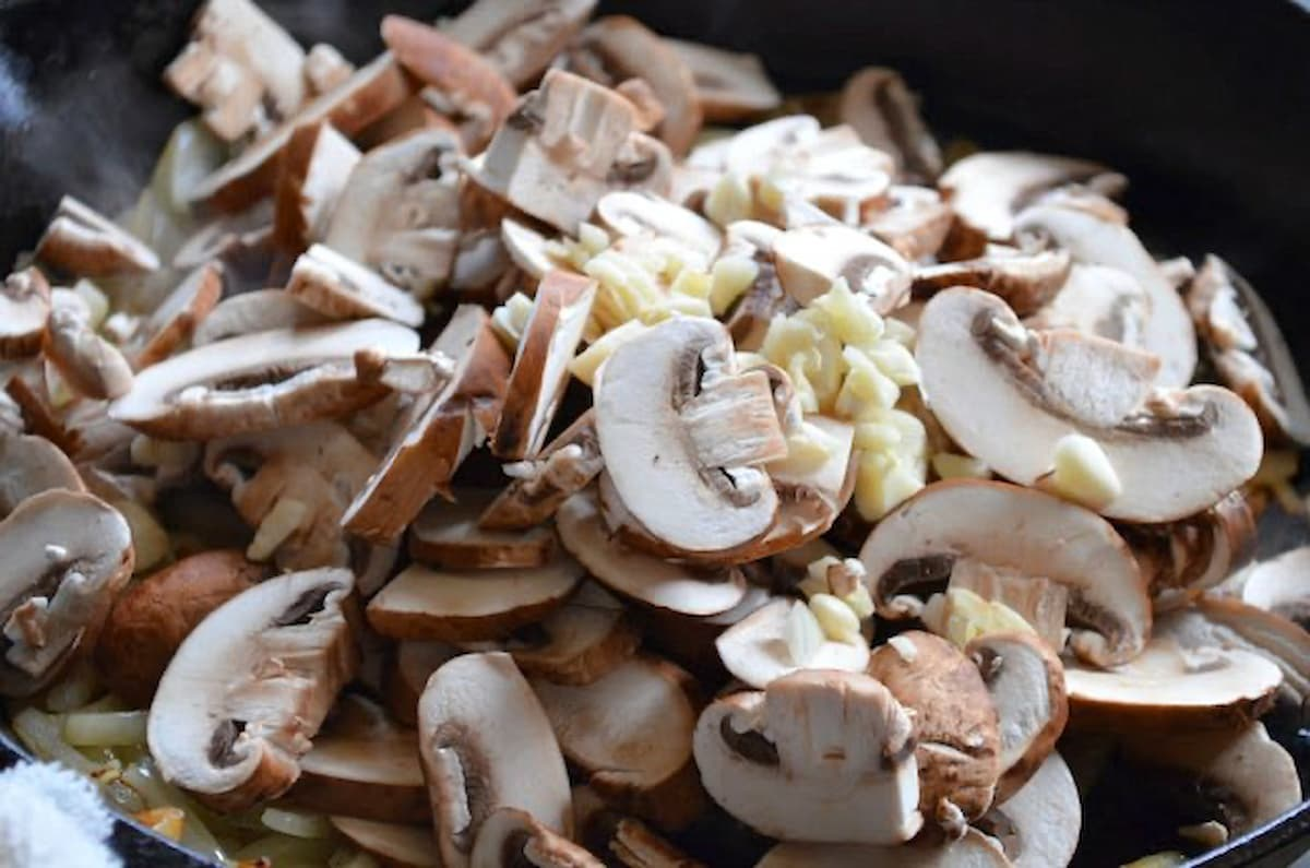 Beef Stroganoff Recipe Scratch add mushrooms and garlic from Serena Bakes Simply From Scratch.