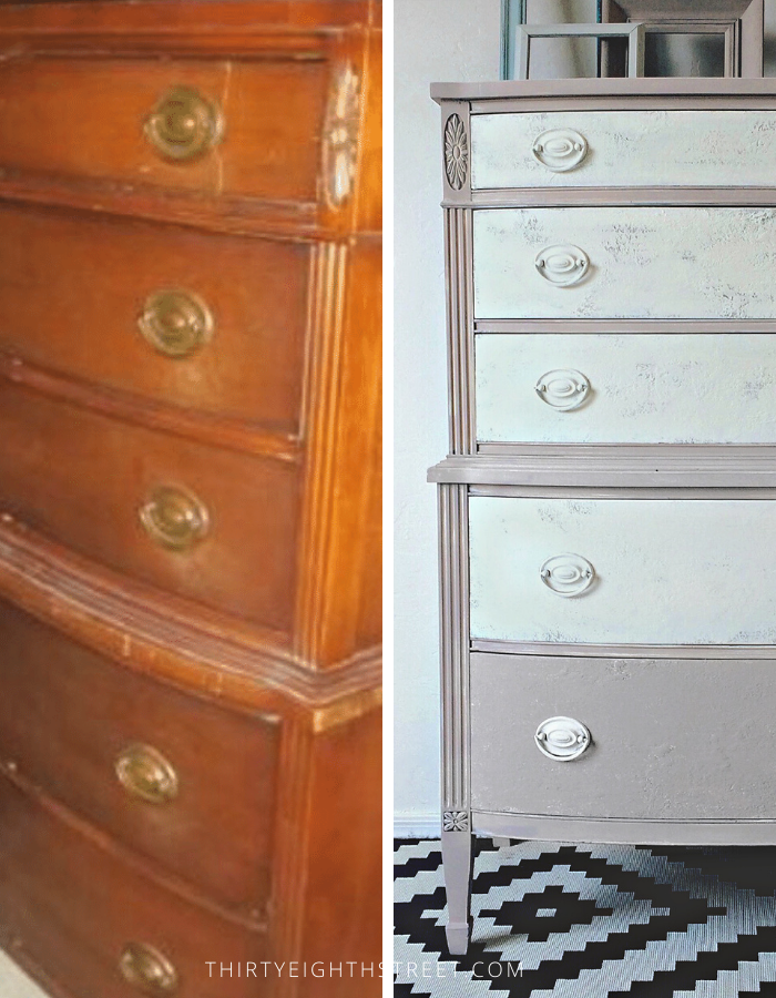 Chalk Paint Furniture Before And After, Grey Chalk Paint Furniture Before And After