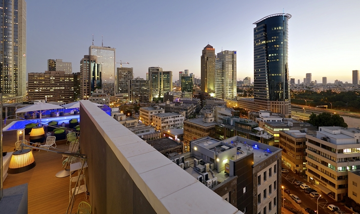View from Hotel Indigo in Tel Aviv