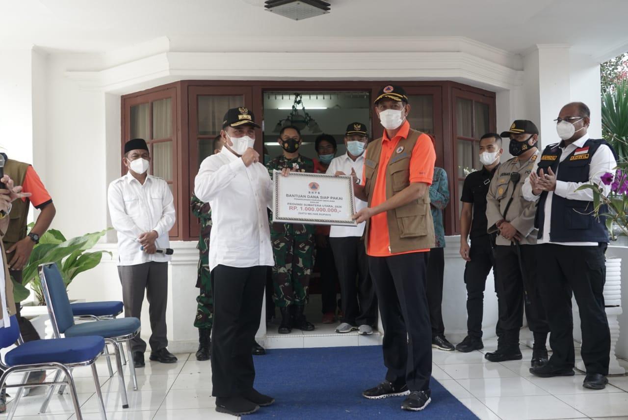 Terdampak Banjir,  BNPB Pusat Berikan Bantuan Kepada 10 Kabupaten/Kota Serta Pemprov Sumut