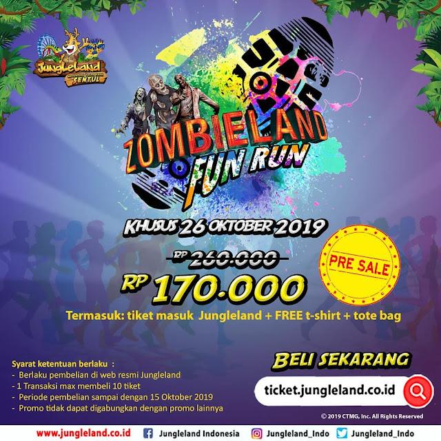 #JungleLand - #Promo Presale ZombieLand Fun Run Hanya 170K (26 Okt 2019)