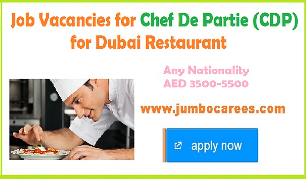 Latest chef jobs with salary up to 5500, Recent Chef jobs in Dubai June 2018,