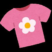 女の子のシャツのイラスト(子供服)