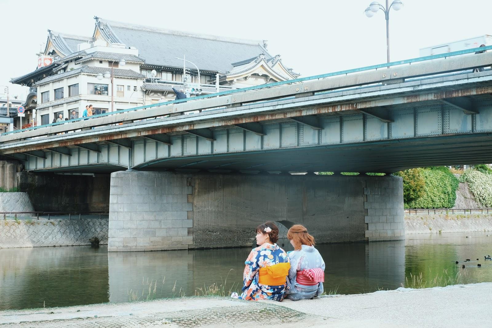 kamo river kyoto japan gion kobu kaburenjo