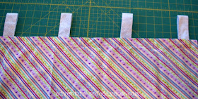 sew loops to the shoe organizer back