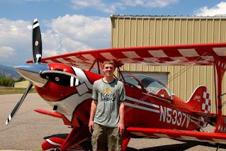 Man with Aerobatic Airplane