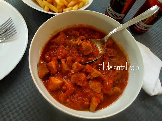 464.- Carne con tomate al estilo de Sevilla.- Manteniendo las raíces
