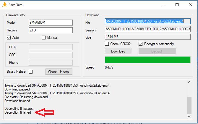 Samfirm Tool: Descarga el firmware de cualquier Samsung
