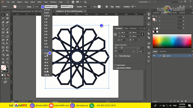 Mudahnya membuat ornament circle di adobe illustrator + video