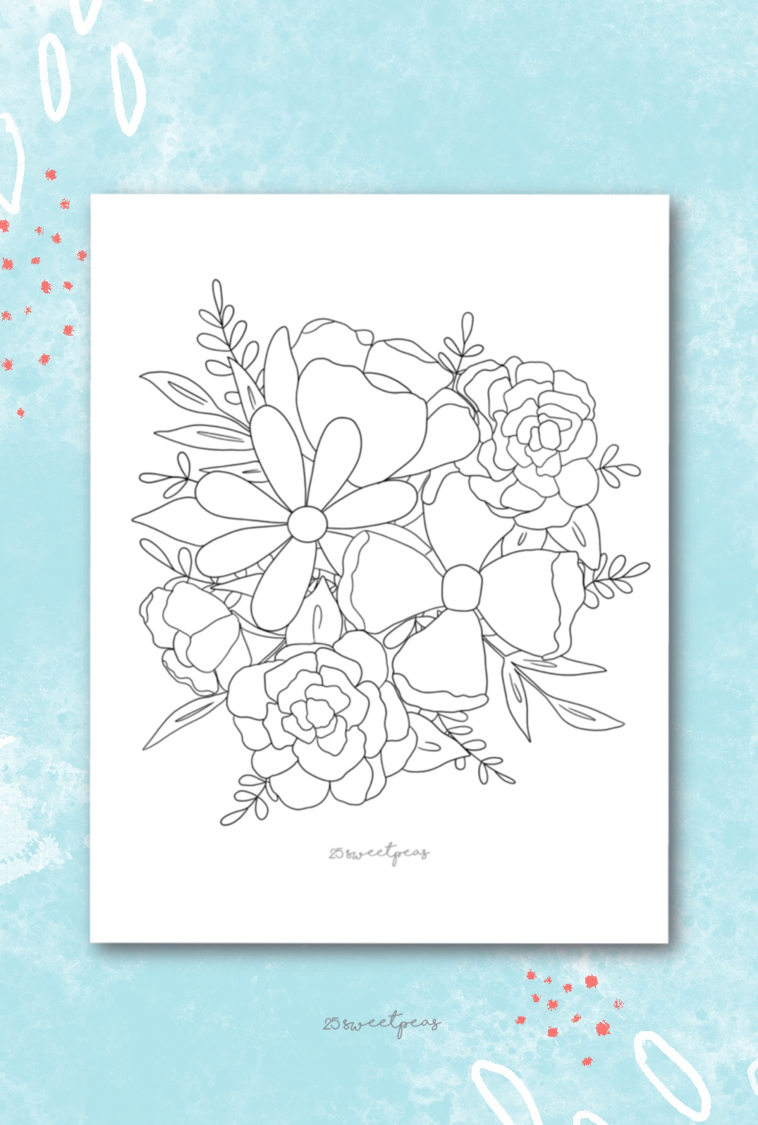 25 Sweetpeas Coloring Page