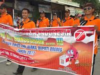 PPK Kecamatan Ketanggungan Ikuti Karnaval Untuk Sosialisasikan Tidak Golput Pada Pilkada 2017
