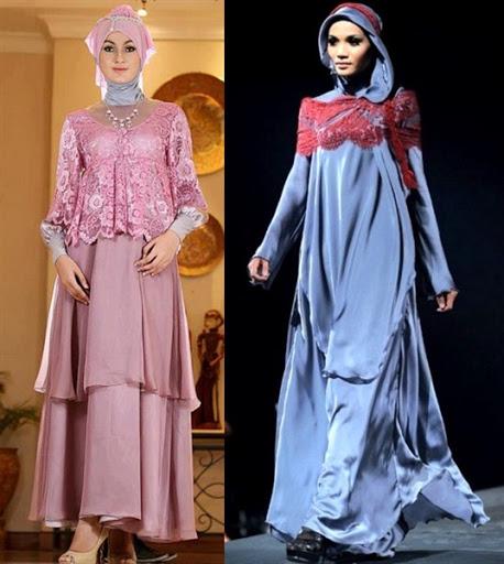 gaun pesta muslim modern bahan satin terbaru 2017/2018