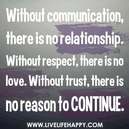Trust Quotes For Love Relationships 2: Without Communication, There Is No Relationship. Without