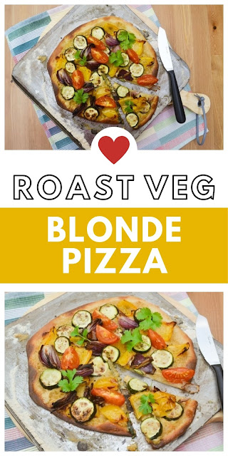 Blonde Pizza with Roast Vegetables