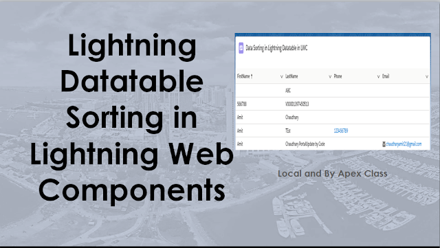 Lightning Datatable Sorting in Lightning Web Components